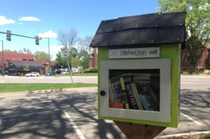 The Little Free Library before it was burnt down. (Photo: Wisdom Real Estate)