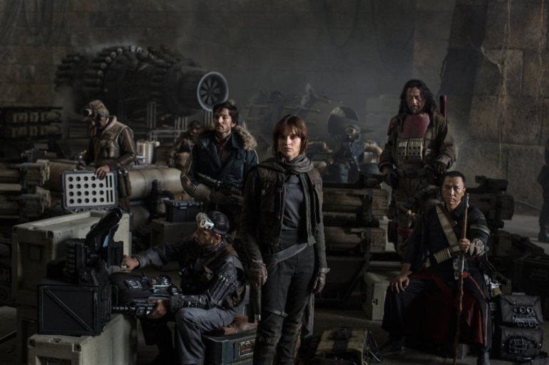 Lucasfilm, Disney Tweet First Cast photo for Star Wars: Rogue One. Left to Right: Actors Riz Ahmed, Diego Luna, Felicity Jones, Jiang Wen and Donnie Yen. (Photo: CNN)