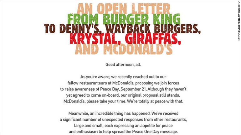 Burger King has expanded its McWhopper offer beyond McDonald's to four other restaurant rivals, including Denny's.