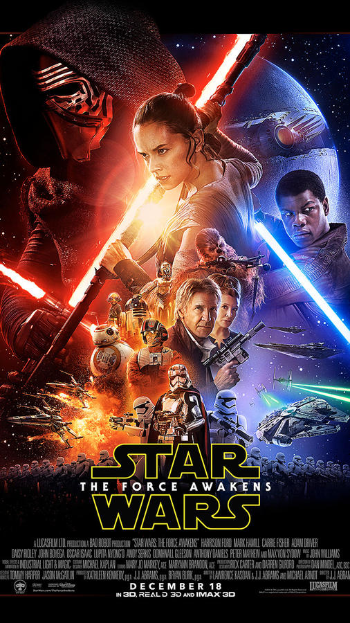 The new poster for Star Wars: The Force Awakens movie has been released. (Photo: Disney / Lucasfilms)