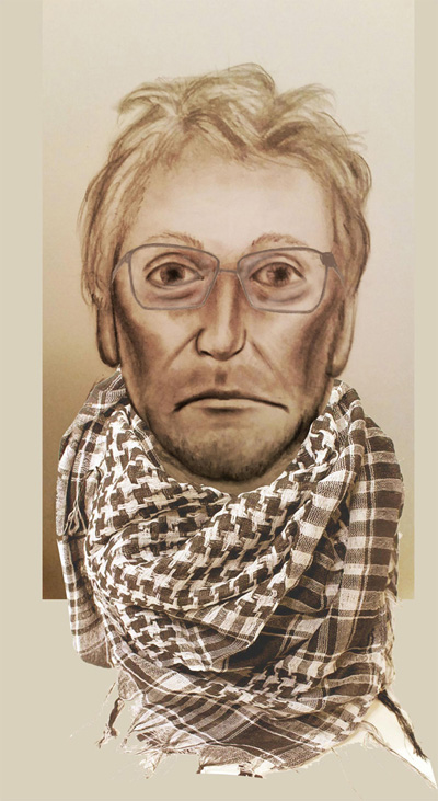 Suspect wanted in shooting of Commerce City police officer. (Sketch: Commerce City Police Department)