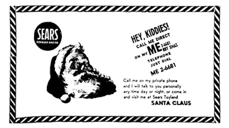 The Sears newspaper advertisement from Colorado Springs with a typo that led to the beginning of the Santa Tracker. (Photo: DOD)