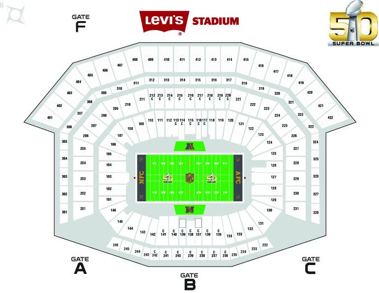 Map of Levi's Stadium.
