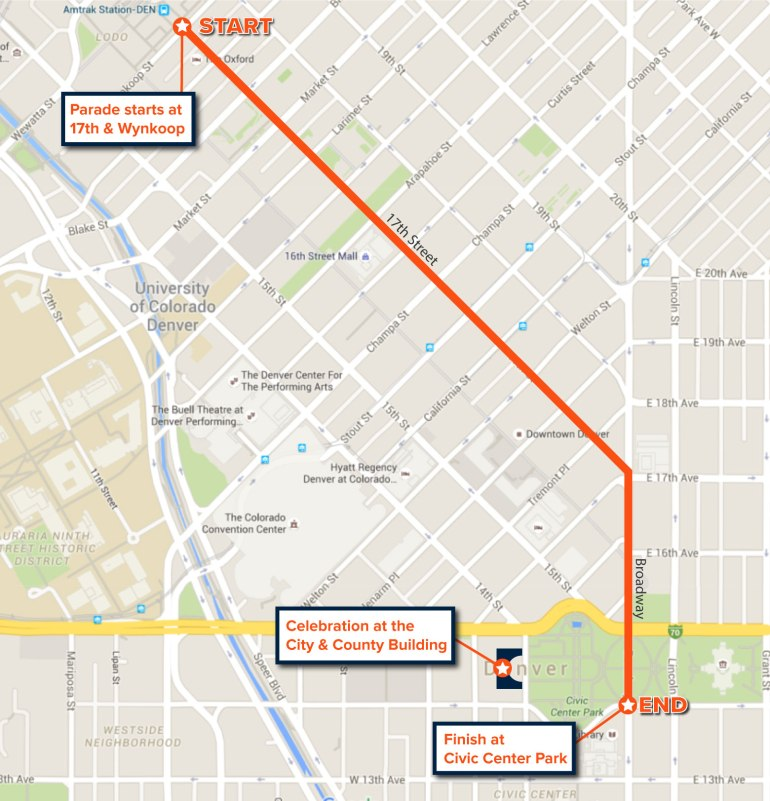 Broncos Parade Map