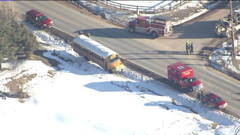 School bus in crash in Douglas County, Colo.