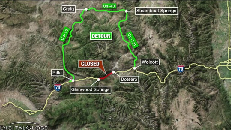 I-70 detour