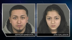 Arthur Sandoval, 20, and Zita Gallegos, 18, have been arrested and are being held on suspicion of second degree burglary. (Photo: DPD)