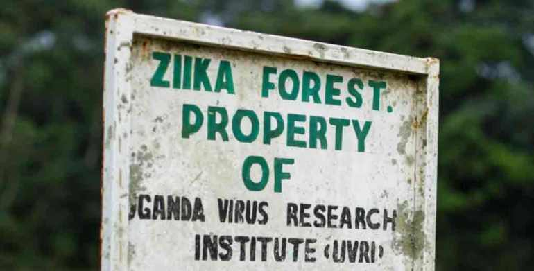 Sign marks the Zika Forest in Uganda. Photo: CNN