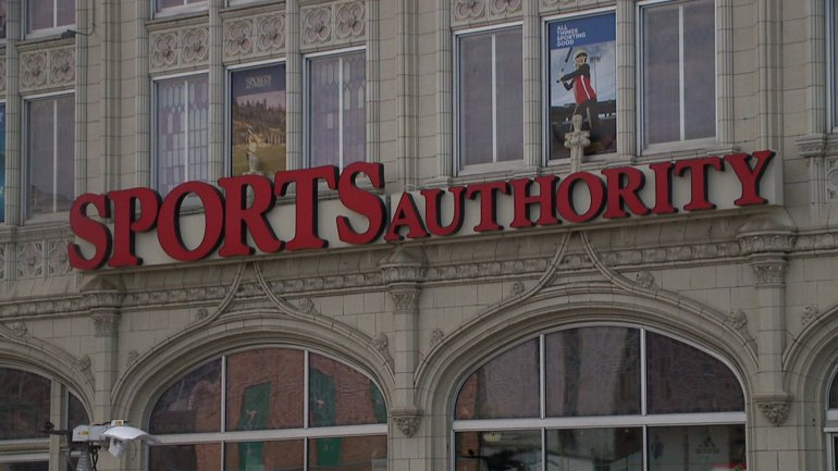 Sports Authority 'Sports Castle' at 10th and Broadway in Denver