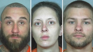 Samuel Pinney, Samantha Simmons and Nathaniel Youngman. (Photos: Weld County Sheriff's Office)