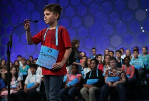 Cameron Keith of Longmont participates in round two of the 2016 National Spelling Bee on May 25, 2016.   (Photo: Alex Wong/Getty Images)