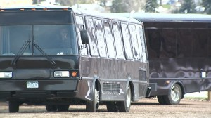 Party buses at Red Rocks. April 19, 2016