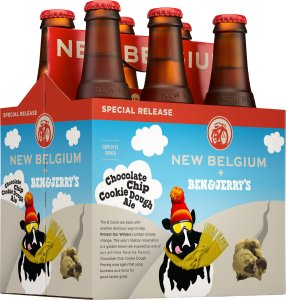 New Belgium's and Ben & Jerry's Chocolate Chip Cookie Dough Ale. (Photo: New Belgium Brewing)