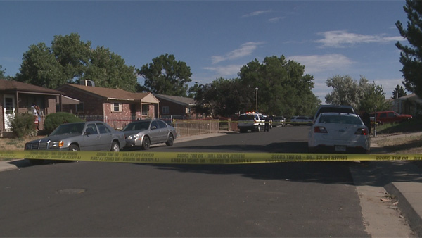 Police investigated a double homicide in northeast Denver on Friday, July 22, 2016.