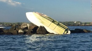 Marlins pitcher Jose Fernandez was killed when the boat he was in ran aground. (Photo: Miama-Dade Fire Rescue)