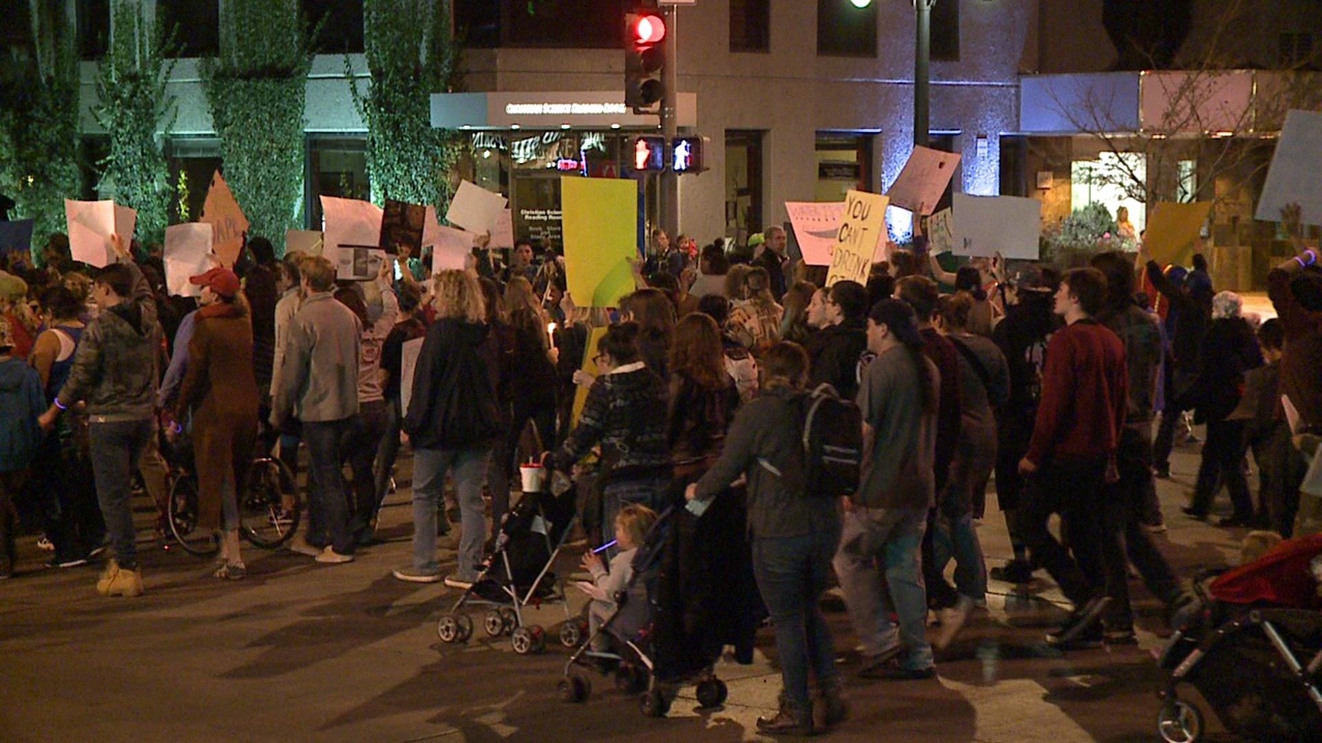 Dakota Access Pipeline protest in Denver