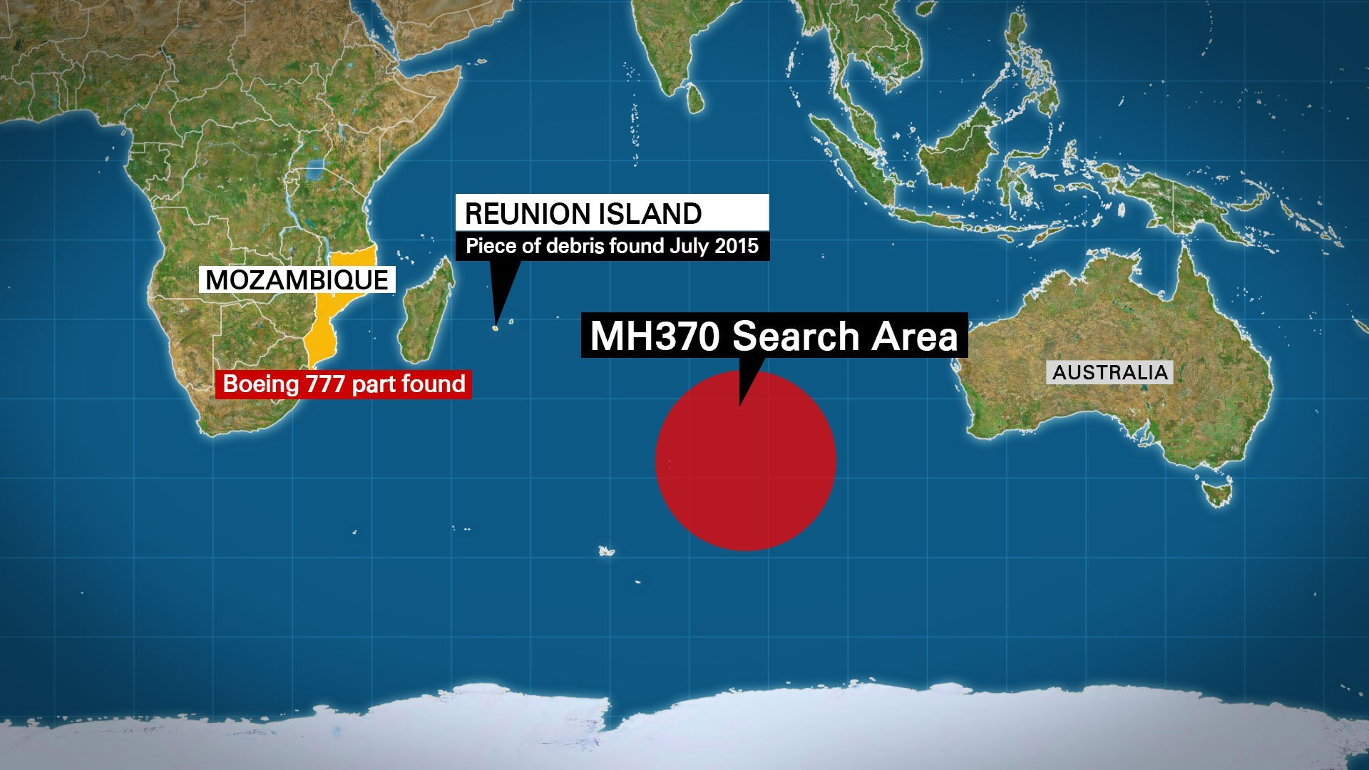 A piece of wreckage apparently from a Boeing 777 -- like the missing MH370 airliner -- was found washed ashore over the weekend on the coast of Mozambique, a U.S. official told CNN on Wednesday.