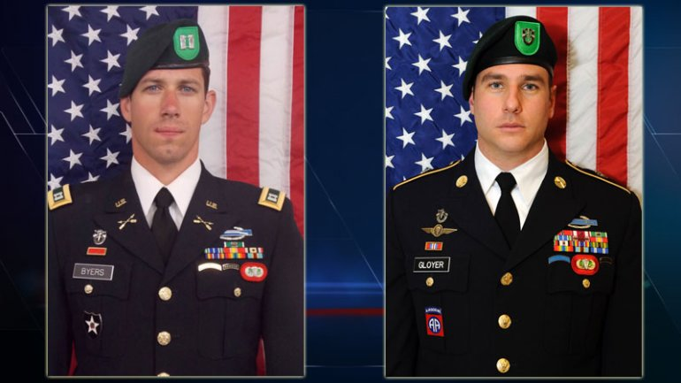 Capt. Andrew D. Byers, left, and Sgt. 1st Class Ryan A. Gloyer