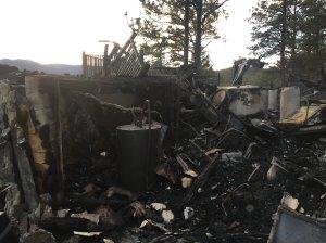 Bailey, CO house fire on Dec. 4, 2016
