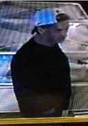 The male suspects is described as a white man in his 20s, with dark hair.