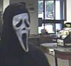 'Scream' mask robbery
