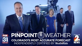 Pinpoint Weather: Colorado's Most Accurate Forecast, independently certified by WeatheRate.