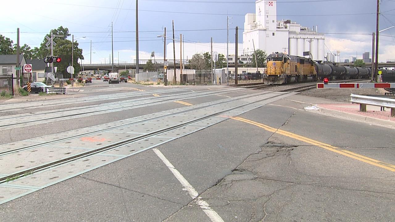 York Street train crossing