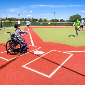 A child plays baseball as part of the Miracle League of Metro Denver, which had thousands of dollars of equipment stolen from it this week. (Photo: Miracle League of Metro Denver)