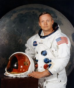 Official portrait of Neil Armstrong, the first man to set foot on the moon. (Photo Credit: NASA)