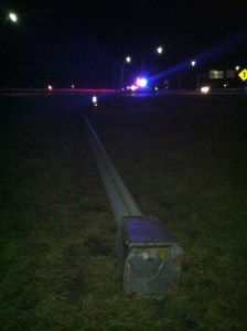Heavy winds brought down a utility pole in Painesville. (Photo Credit: Fox 8 News)