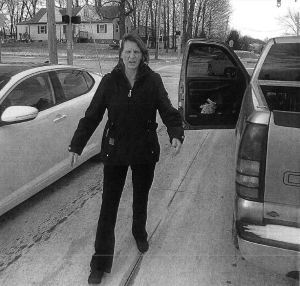A witness reportedly snapped this picture of Connie Edmiston as she approached his car. (Photo Credit: Brunswick Police Department).