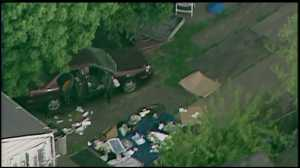 SkyFOX flying above Seymour Ave.; as investigators search for evidence.