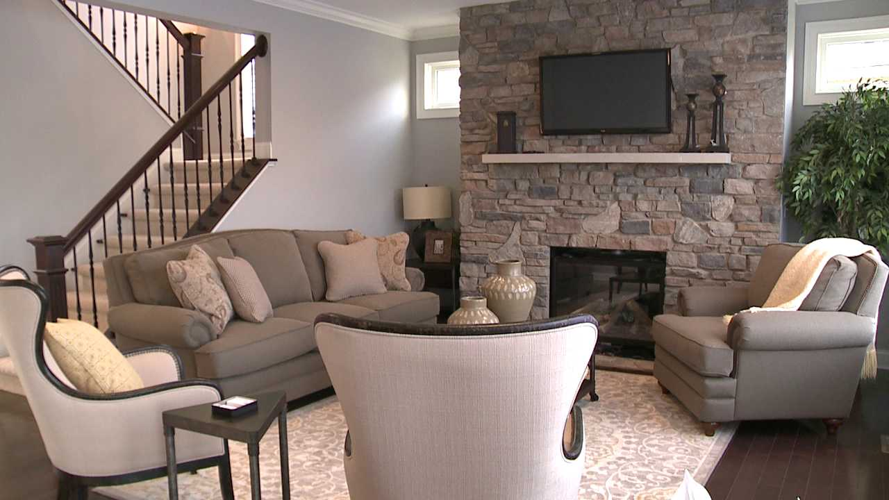 The living room of the St. Jude Dream Home.