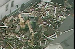 SkyFOX overhead as Ariel Castro's home was demolished