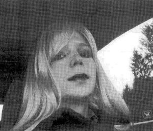 Court exhibit released of Bradley Manning in drag (Credit: court document)