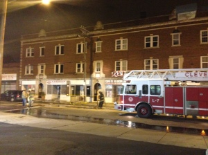 (Fire on Buckeye Rd. in Cleveland)