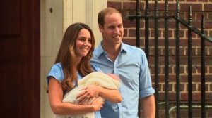 The Duke and Duchess of Cambridge make their first public appearance after the birth of their son. Prince William and Catherine introduced their royal baby boy to the world Tuesday, July 23, 2013. (credit:   CNN)