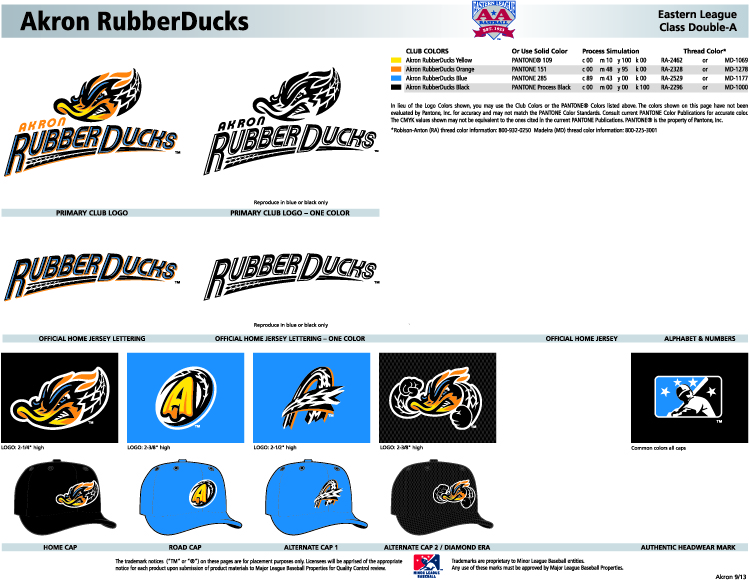 Akron Rubber Ducks Logos