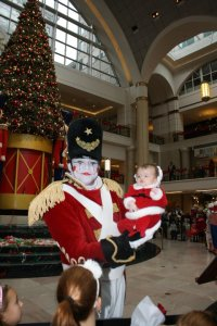 Missy's niece dancing with the Toy soldier in 2010.