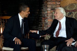 President Obama meets with Rev. Billy Graham at his house in Montreat, North Carolina on April 25, 2010 (Credit: The White House via CNN)