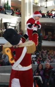 Missy's nephew dances with the Toy Soldier.