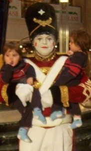 Missy's twins with the Toy Soldier in 2003