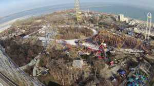 Cedar Point as pictured from above (Fox 8 via CAM)