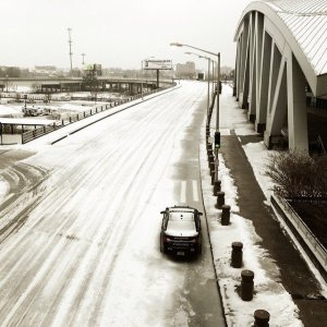 CNN's Michael Holmes took these photos of an ice-covered Atlanta on Wednesday, February 12, 2014.