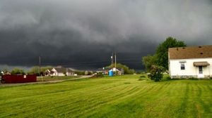Dark clouds during storm in Eaton Twp. (5/12/14)
