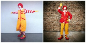 Ronald McDonald before (left) and after (right).