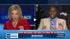 Charles Bothuell learns his son is alive during a live interview with Nancy Grace (Photo Credit: HLN video still)