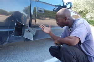 Man cuts open truck to save kitten