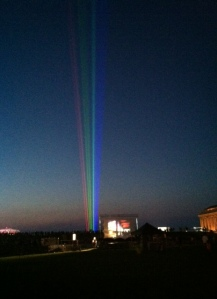 (Beams of light go up in Cleveland ahead of the Gay Games)