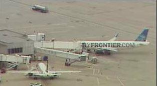 SkyFOX shot of Frontier flight